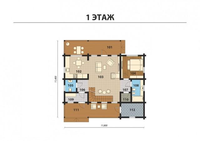 Проект и строительство дома из профилированного бруса с двумя террасамив, план двухэтажного дома и строительство под ключ, проектирование и строительство деревянных домов.