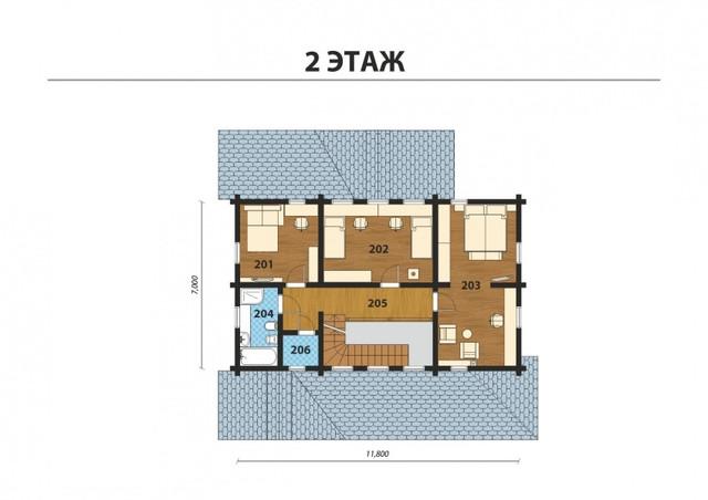 Проект и строительство дома из профилированного бруса с двумя террасами, план двухэтажного дома и строительство под ключ, проектирование и строительство деревянных домов.