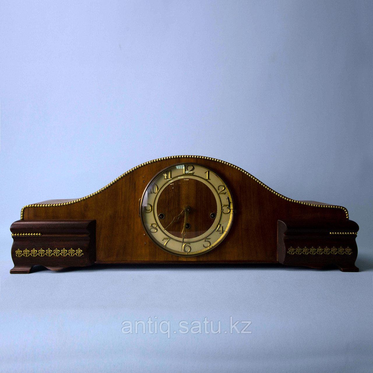 Настольные часы с Вестминстерским боем. Германия. Середина ХХ века. Массив ореха. - фото 7