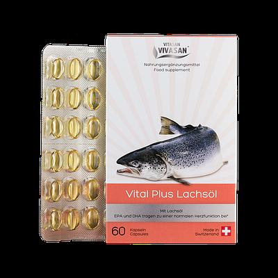 Капсулы Витал Плюс Масло лосося Vivasan (Оригинал-Швейцария)