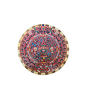 Сувенир-картина из дерева Ollin Quetzalli Камень Солнца