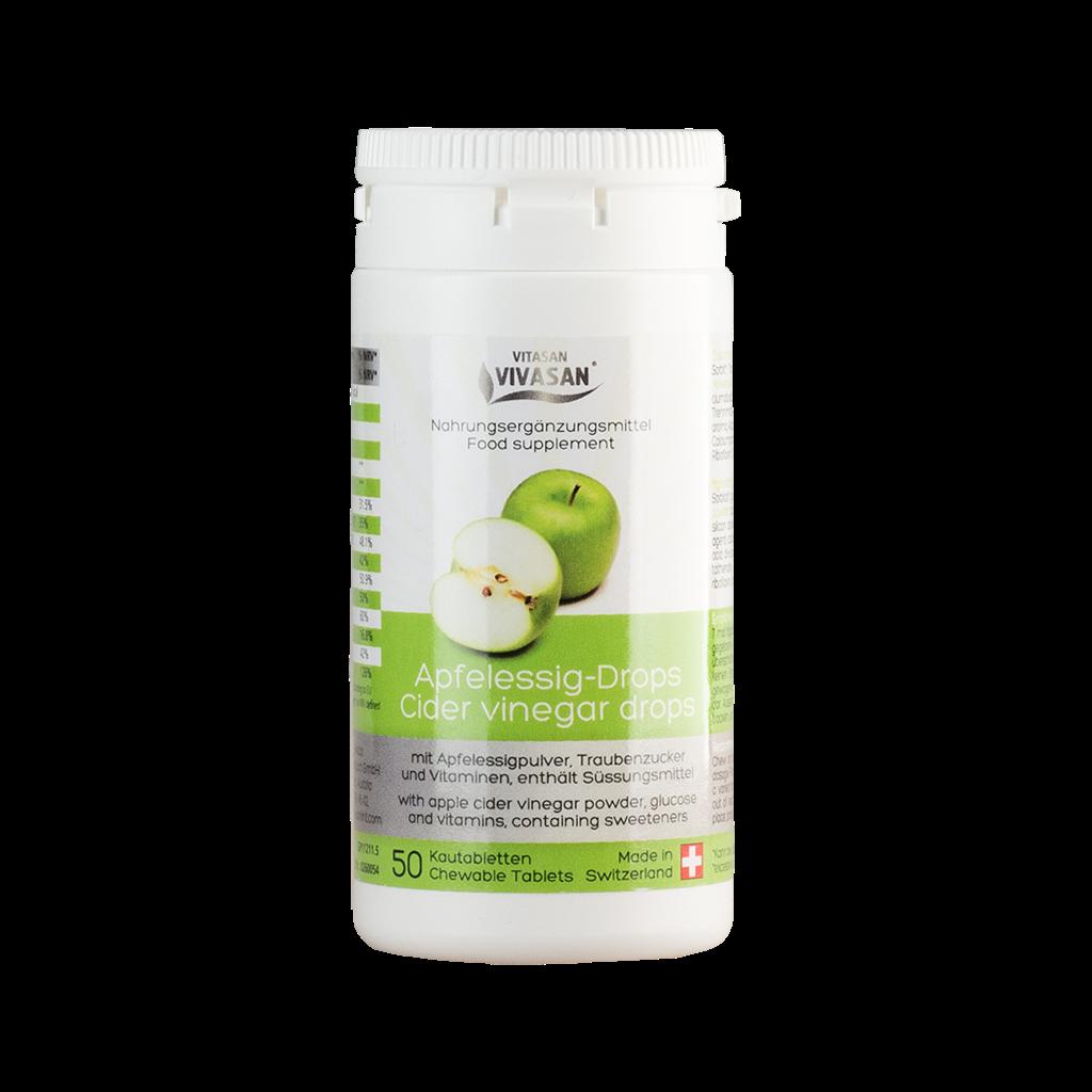 Яблочный уксус таблетки Vivasan (Оригинал-Швейцария)