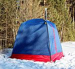 """Мобильная баня/палатка """"Морж"""" с большим окном, фото 3"""