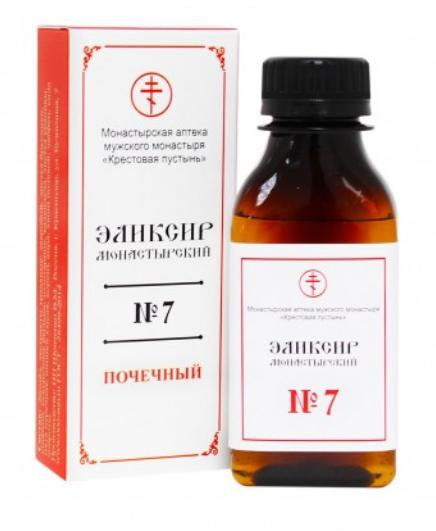 """Эликсир монастырский № 7 """"Почечный"""", 100мл"""