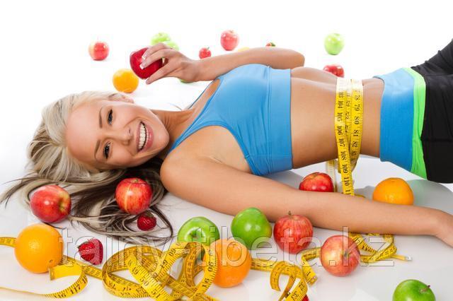Девушка с яблоками похудение