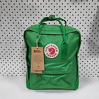 Рюкзак Fjallraven Kanken Classic. Цвет Зеленый отличный вариант для повседневных прогулок, учебы, путешествий