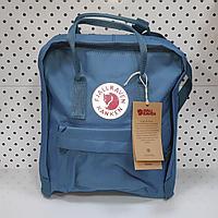 Рюкзак Fjallraven Kanken Classic. Цвет Голубой, отличный вариант для повседневных прогулок, учебы, путешествий