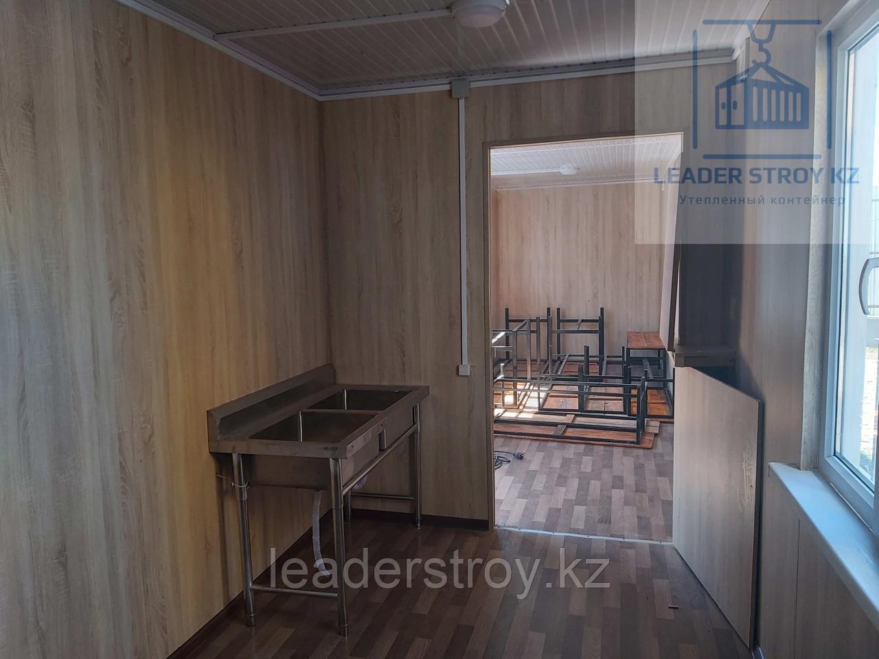 Жилой контейнер под столовую и кухню на 18 человек из 40 футового контейнера