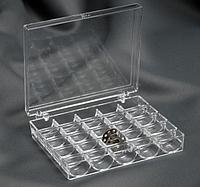 Органайзер Контейнер на 25 шпулек 12,3 × 10 × 2,5 см цвет прозрачный