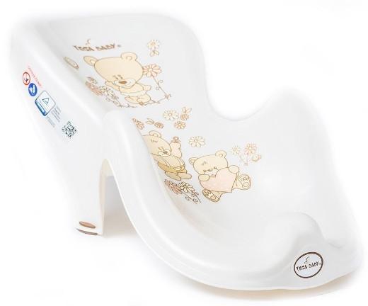 ТЕГА Горка для купания TEDDY (МИШКИ) белый жемчуг