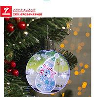 Подвеска световая «Снеговик праздничный»