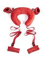 Набор для фиксации на руки, ноги и шею (красный)