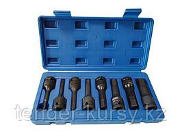 """FK-4087MPB Forcekraft Набор головок-бит 6-гранных ударных 8 предметов,1/2""""(H5, H6, H8, H10, H12, H14, H17,"""