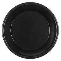 Тарелка d 220мм, чёрн., ПП, 50 шт