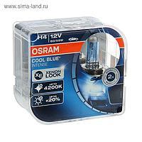 Лампа автомобильная Osram Cool Blue, H4, 12 В, 60/55 Вт, набор 2 шт 64193CBI-HCB