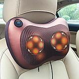 Массажная подушка Massage Pillow  8 роликов в авто и для дома., фото 3