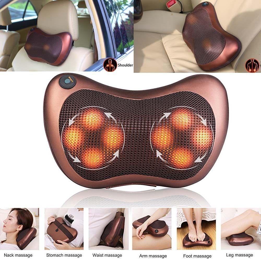 Массажная подушка Massage Pillow  8 роликов в авто и для дома.