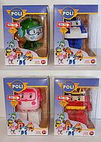 Детские игрушки серия из 4 роботов трансформеров robocar hero.