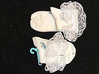 Носки детские белые с кружевом 4-8л