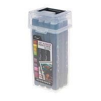 Набор маркеров Superior Tinge, профессиональные, двусторонние, чёрный корпус, 12 штук, 12 цветов, тёплые