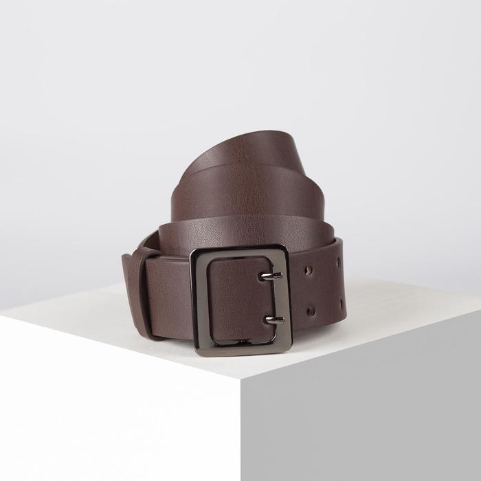 Ремень, ширина 4 см, винт, пряжка металл, цвет коричневый