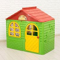 Doloni Домик детский малый, со шторками зеленый