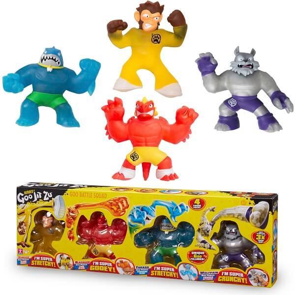 GooJitZu  Гуджитсу Игровой набор 4 тянущиеся фигурки
