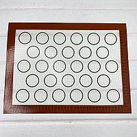Коврик силиконовый с кругами на 28шт 30х40см армированный внутри