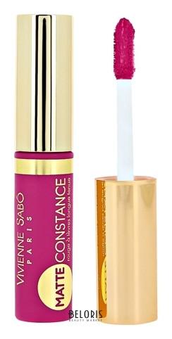 Помада жидкая матовая для губ Vivienne Sabo Matte Constance , устойчивая,тон №36 насыщенный фиолетовый