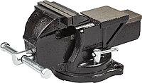 Тиски слесарные Stayer 100 мм поворотные с наковальней, чугунные 3256-100
