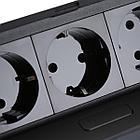 Настольный SOFT на 3 розетки GTV, Чёрный, фото 4
