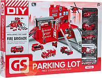 Детский игровой набор паркинг пожарная часть. Parking lot модель: NO.CM559-11