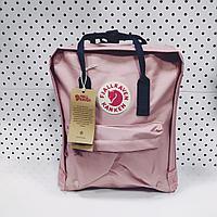Рюкзак Fjallraven Kanken Classic. Цвет Розовый с темном ремешком, отличный вариант для повседневных прогулок