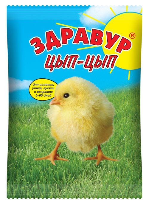 Здравур Цып-цып 250гр премикс