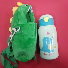 Бутылочка с чехлом динозаврик (зеленый)