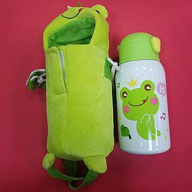 Бутылочка с чехлом лягушкой
