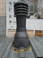 Вентиляционный выход для профнастила МП-20 KBТ-18  Графит RAL 7024, фото 1
