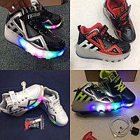 Кроссовки на 2-х роликах с подсветкой