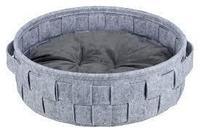 Лежак Lennie, ø 45 см, серый