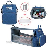 Сумка-рюкзак с пеленальным манежем, фото 7