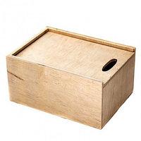 Деревянный ящик, подарочная коробка из фанеры с выдвижной крышкой