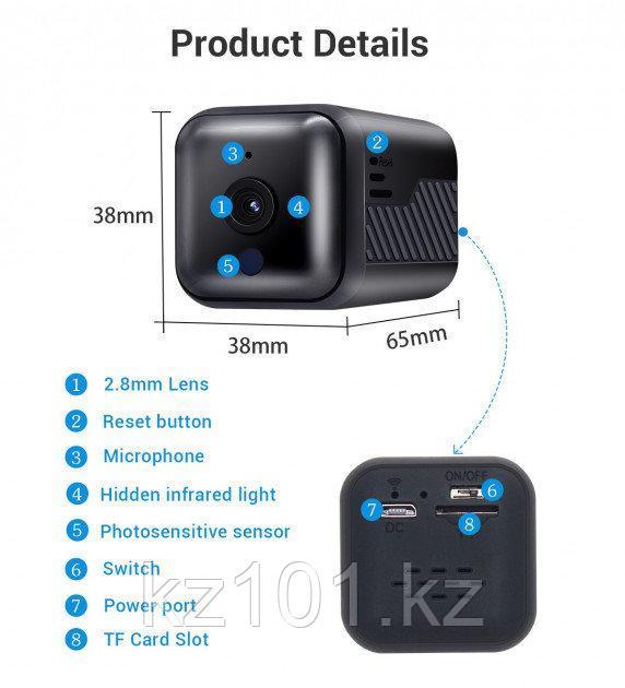 Мини-камера FULL HD 1080P (на 6 часов)
