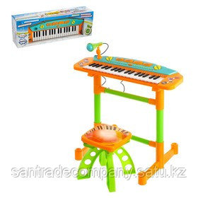 Синтезатор детский  'Яркие впечатления', со стульчиком, звуковые эффекты