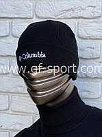 Шапка Columbia черная с белым логотипом