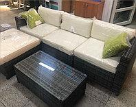 Комплект плетенной мебели на металлическом каркасе