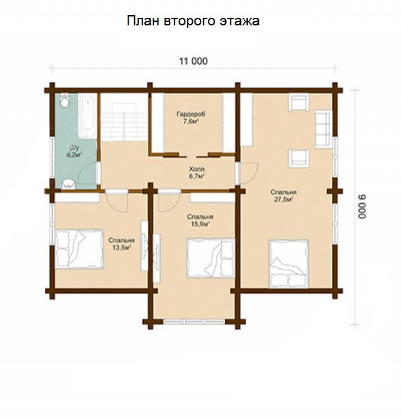 Проект финского дома, план двухэтажного дома и строительство под ключ, проектирование и строительство деревянных домов.