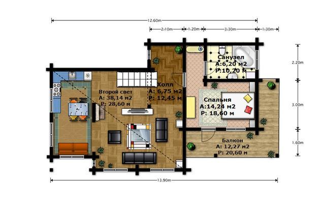 дом по индивидуальному проекту, план двухэтажного дома и строительство под ключ, проектирование и строительство деревянных домов.