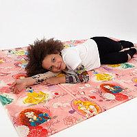 Детский термоковрик для ползания игровой рулонный Принцессы Размер 1,5 м на 1 м-10 мм