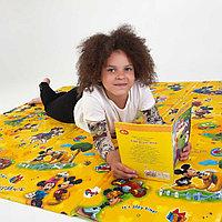 Детский термоковрик для ползания игровой  рулонный Мики маус Размер 1,5м на 1 м-5 мм