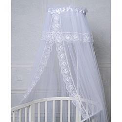 Балдахин для кроватки Pituso сетка/кружево 600х165 см Белый